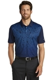 Nike Golf Dri-FIT Mobility Camo Polo Midnight Navy with Photo Blue Thumbnail