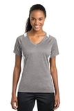 Women's Heather Colorblock Contender V-neck Tee Vintage Heather with White Thumbnail