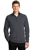 Sport-Wick Textured Colorblock 1/4-Zip Pullover Iron Grey with Black Thumbnail