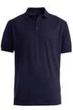 Men's Short Sleeve Soft Touch Blended Pique Polo Navy Thumbnail