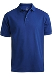 Men's Short Sleeve Soft Touch Blended Pique Polo Royal Thumbnail