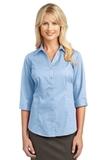 Women's 3/4-sleeve Blouse Light Blue Thumbnail