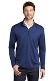 Silk Touch Performance 1/4-Zip Royal with Steel Grey Thumbnail