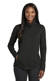 Women's Collective Smooth Fleece Jacket Deep Black Thumbnail