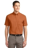 Short Sleeve Easy Care Shirt Texas Orange with Light Stone Thumbnail