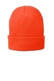 Fleece-Lined Knit Cap Athletic Orange Thumbnail