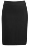 Women's Washable Suit Straight Skirt Black Thumbnail