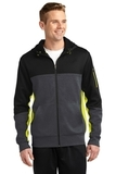Tech Fleece Colorblock Full-zip Hooded Jacket Black with Graphite Heather and Citron Thumbnail