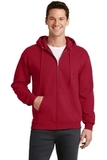 7.8-oz Full-zip Hooded Sweatshirt Red Thumbnail