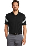 Nike Golf Dri-FIT Commander Polo Black with Wolf Grey Thumbnail