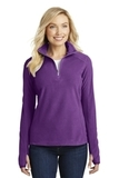 Women's Microfleece 1/2-zip Pullover Amethyst Purple Thumbnail