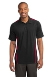 Micro-mesh Colorblock Polo Black with Red Thumbnail