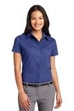 Women's Short Sleeve Easy Care Shirt Mediterranean Blue Thumbnail