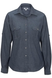 Chambray Roll-up-sleeve Shirt Chambray Blue Thumbnail