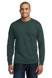 Long Sleeve 50/50 Cotton / Poly T-shirt Dark Green Thumbnail