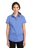 Women's Short Sleeve SuperPro Twill Shirt Ultramarine Blue Thumbnail