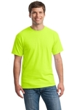 Heavy Cotton 100 Cotton T-shirt Safety Green Thumbnail