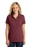 Women's Dry Zone UV MicroMesh Polo Burgundy Thumbnail