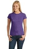 Women's Softstyle Ring Spun Cotton T-shirt Heather Purple Thumbnail