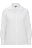 Women's Easy Care Poplin Shirt LS White Thumbnail