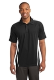 Micro-mesh Colorblock Polo Black with White Thumbnail