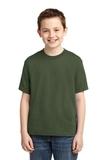 Youth 50/50 Cotton / Poly T-shirt Military Green Thumbnail