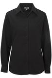 Women's Long Sleeve Service Shirt Black Thumbnail