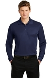 Long Sleeve Micropique Polo Shirt True Navy Thumbnail