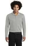 RacerMesh Long Sleeve Polo Silver Thumbnail