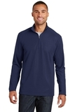 Pinpoint Mesh 1/2 Zip Pullover True Navy Thumbnail