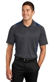 Heather Colorblock Contender Polo Graphite Heather with True Royal Thumbnail