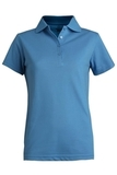 Women's Short Sleeve Blended Pique Polo Marina Blue Thumbnail