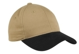 2-tone Brushed Twill Cap Khaki with Black Thumbnail