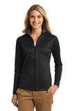 Women's Heavyweight Vertical Texture Full-zip Jacket Black with Iron Grey Thumbnail