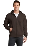 7.8-oz Full-zip Hooded Sweatshirt Dark Chocolate Brown Thumbnail