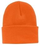 Knit Cap Neon Orange Thumbnail