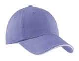 Sandwich Bill Cap With Striped Closure Blue Iris with Stone Thumbnail