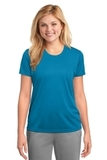 Women's Essential Performance Tee Neon Blue Thumbnail