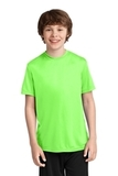 Youth Essential Performance Tee Neon Green Thumbnail
