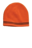 Sport-tek Spectator Beanie Deep Orange with Black Thumbnail