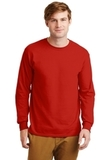 Ultra Cotton 100 Cotton Long Sleeve T-shirt Red Thumbnail