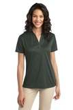 Port Authority Ladies Silk Touch Performance Polo Steel Grey Thumbnail