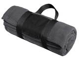 Fleece Blanket With Carrying Strap Iron Grey Thumbnail