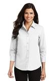 Women's 3/4-sleeve Easy Care Shirt White Thumbnail
