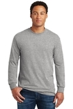 Heavy Cotton 100 Cotton Long Sleeve T-shirt Sport Grey Thumbnail