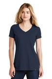 Screenprinted Women's New Era Heritage Blend VNeck Tee True Navy Thumbnail