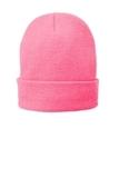Fleece-Lined Knit Cap Neon Pink Glo Thumbnail