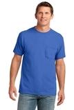 5.4-oz 100 Cotton Pocket T-shirt Royal Thumbnail