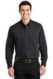 Tonal Pattern Easy Care Shirt Dark Charcoal Thumbnail