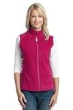 Women's Microfleece Vest Dark Fuchsia Thumbnail